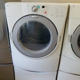 White Whirlpool Frontload Gas Dryer