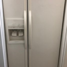 Bisque Whirlpool Side by Side Refrigerator
