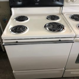 Hot Point Bisque/Black Stove Regular Coil