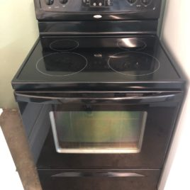 Whirlpool Black Glass Top Stove